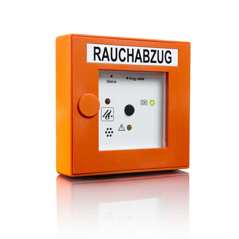 Rauchabzug in Orange