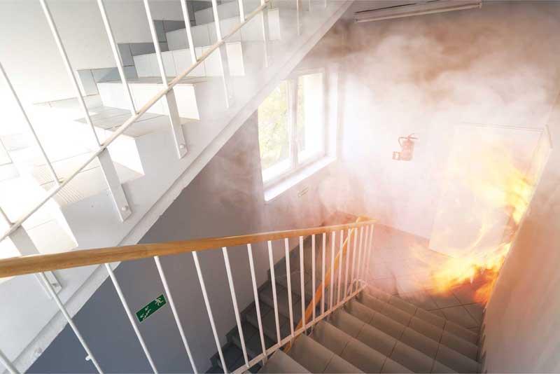 Feuer im Treppenhaus