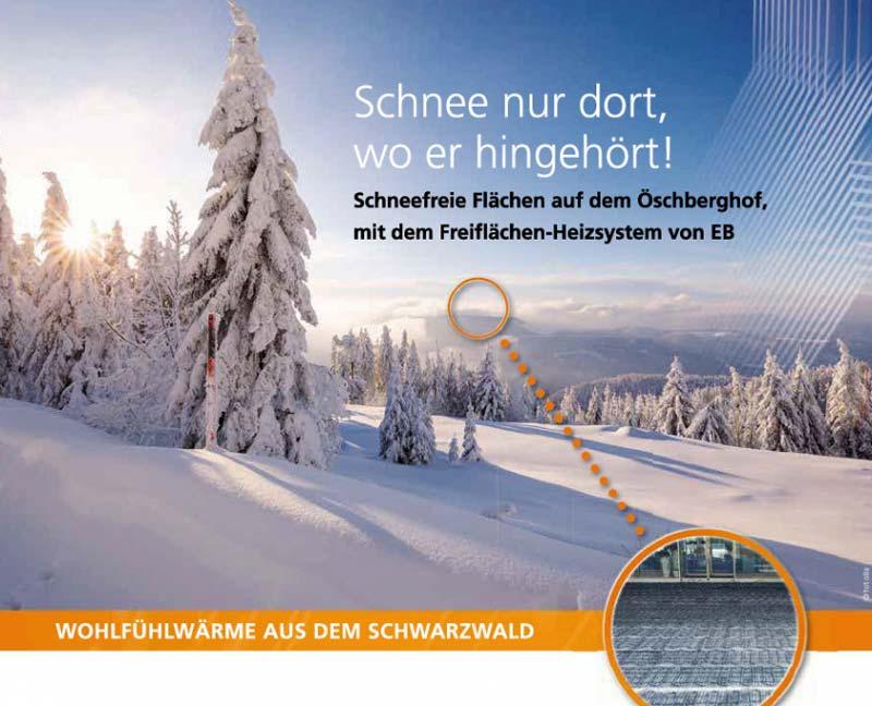 Oeschberghof-Prospekt-Flyer mit Schwarzwald Hintergrund
